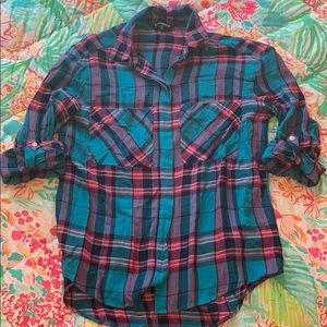 EXPRESS | Plaid Boyfriend Shirt
